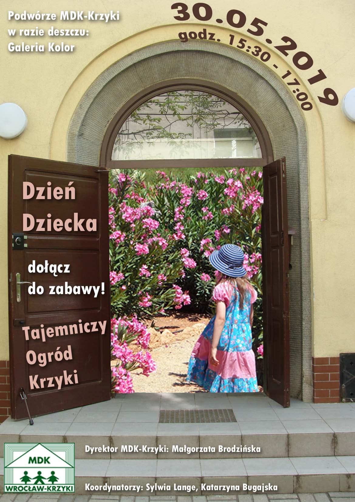 Tajemniczy Ogród Krzyki Zapraszamy Na Dzień Dziecka Mdk